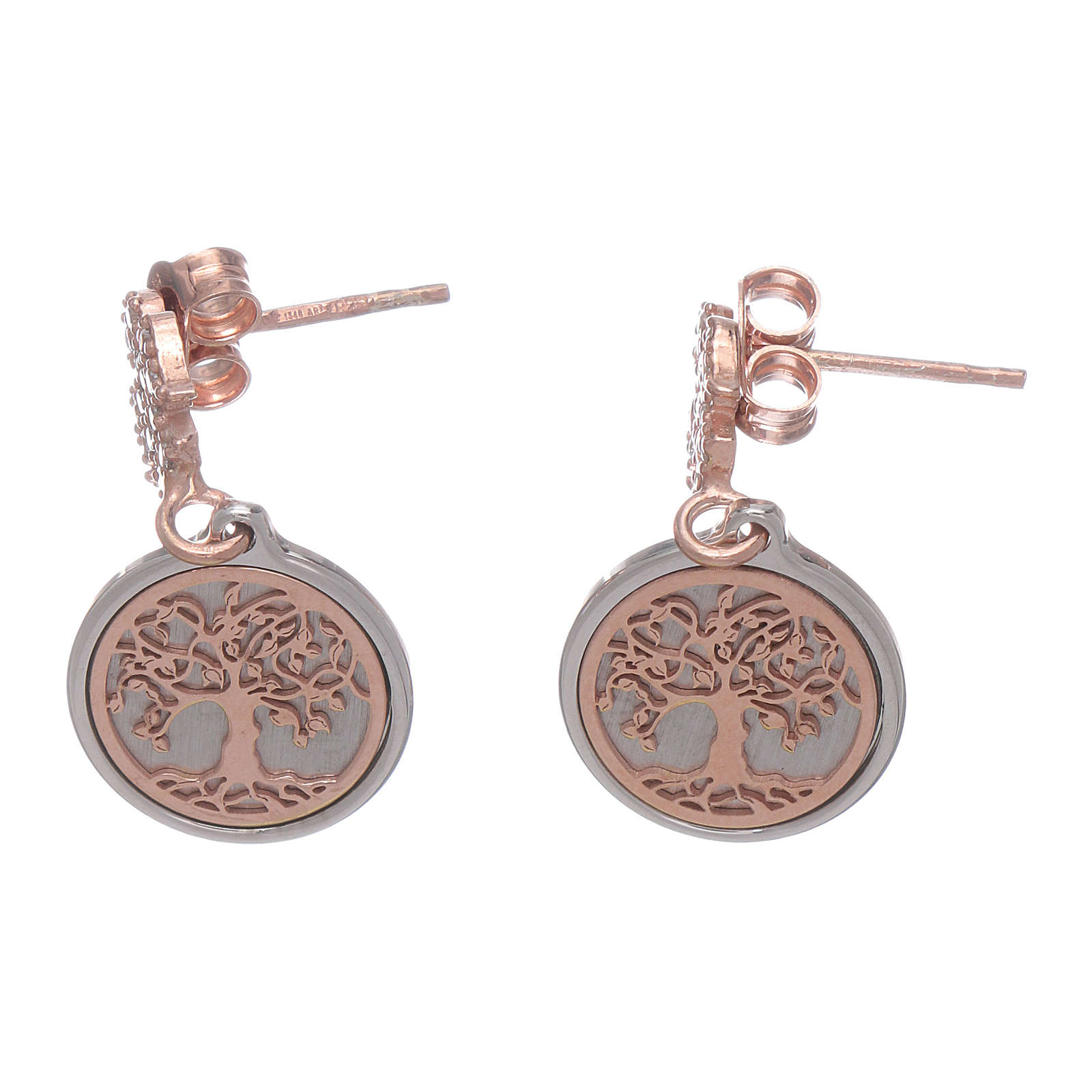 AMEN earrings in 925 sterling silver with angel and Tree of Life 4