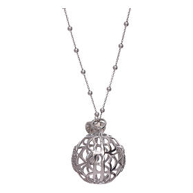 AMEN necklace with angel caller pendant in 925 sterling silver and zircons s2
