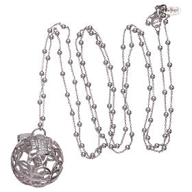 AMEN necklace with angel caller pendant in 925 sterling silver and zircons s3
