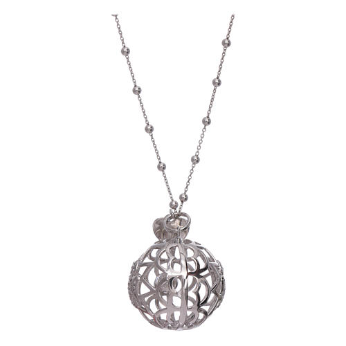 AMEN necklace with angel caller pendant in 925 sterling silver and zircons 2