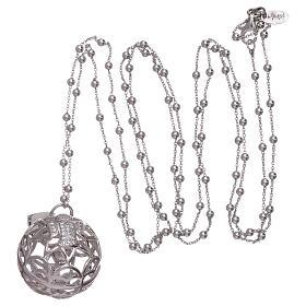 Collar AMEN colgante llamador de ángeles plata 925 y zircones s3