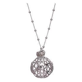 Collier AMEN pendentif bola de grossesse argent 925 et zircons s2