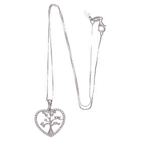 Collana Amen cuore e arg 925 zirconi bianchi s3