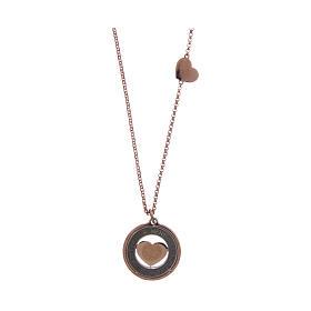 Collana AMEN Arg 925 rosé con medaglia parole e cuore piccola s2