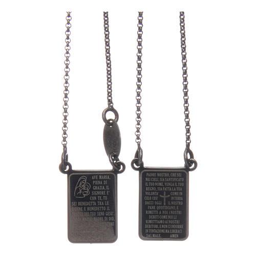 Scapolare Arg 925 brunito AMEN con medaglia Ave Maria e Padre Nostro 1