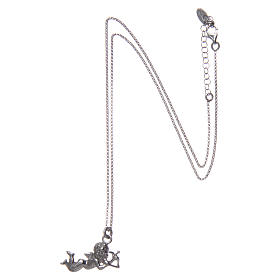 AMEN necklace in 925 sterling silver finished in rhodium with Angel Cupid s3
