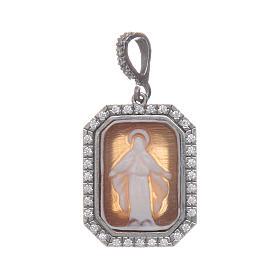 Ciondolo argento 925 zirconi e cammeo Miracolosa s3