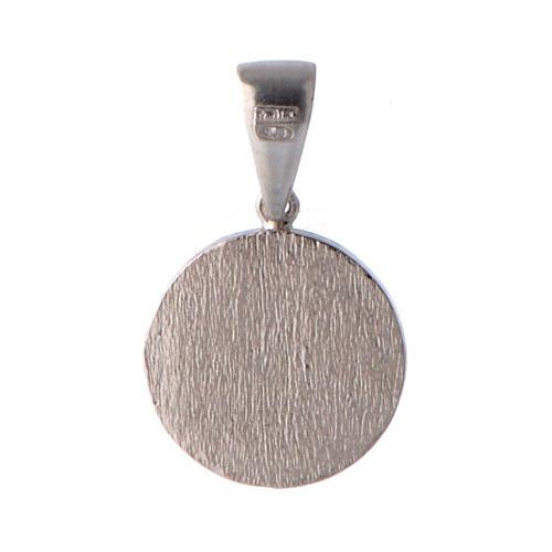 Medaglietta angelo e zirconi argento 2