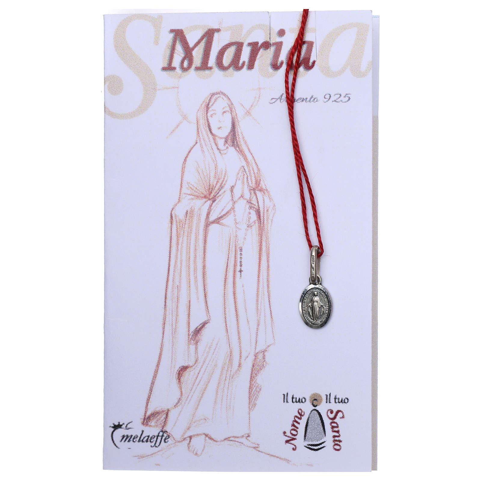Medalla milagrosa ovalada de María Inmaculada Plata 4