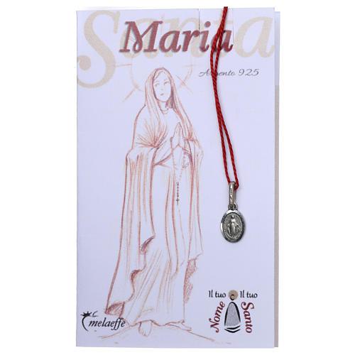 Medalla milagrosa ovalada de María Inmaculada Plata 2