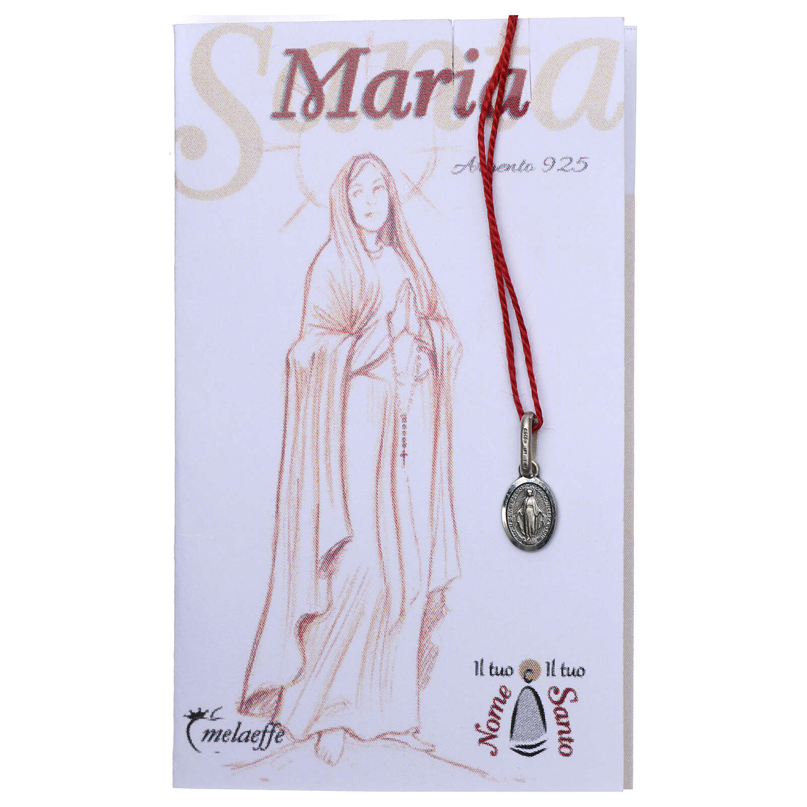 Miraculous Medal, silver oval of Mary Immaculate 4