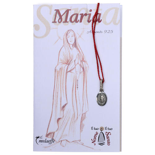 Miraculous Medal, silver oval of Mary Immaculate 2