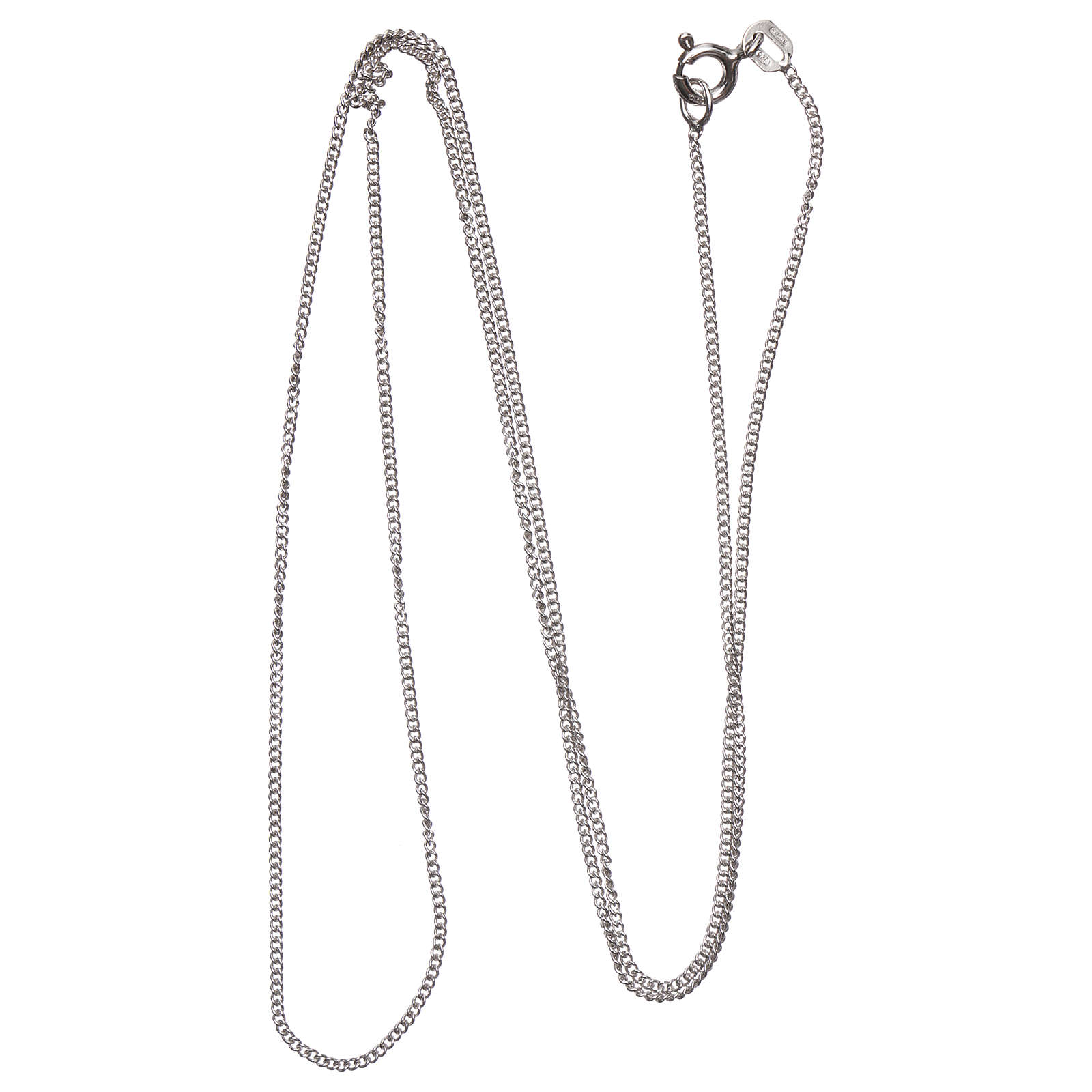 Łańcuszek groumette srebro 925 rodowane 50 cm długości 4