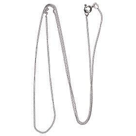 Łańcuszek groumette srebro 925 rodowane 50 cm długości s2