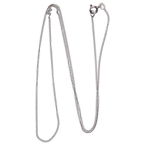 Łańcuszek groumette srebro 925 rodowane 50 cm długości 2