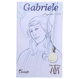 St Gabriel medal, Sterling Silver rhodium plated s2
