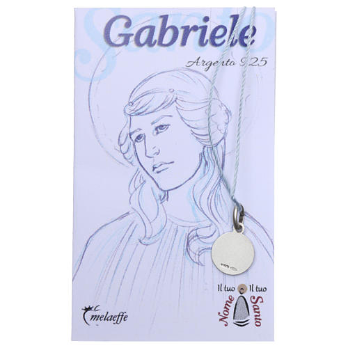 St Gabriel medal, Sterling Silver rhodium plated 2