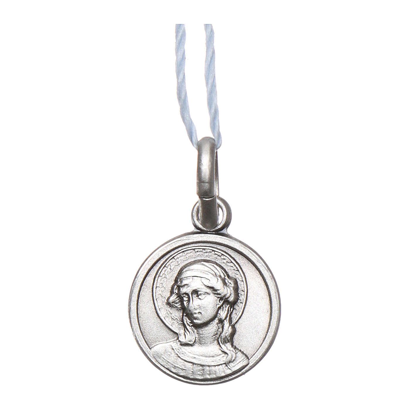 Medaglia San Gabriele Arcangelo Argento 925 rodiata 10 mm 4