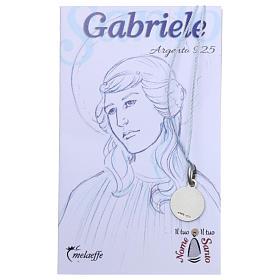 Medaglia San Gabriele Arcangelo Argento 925 rodiata 10 mm s2