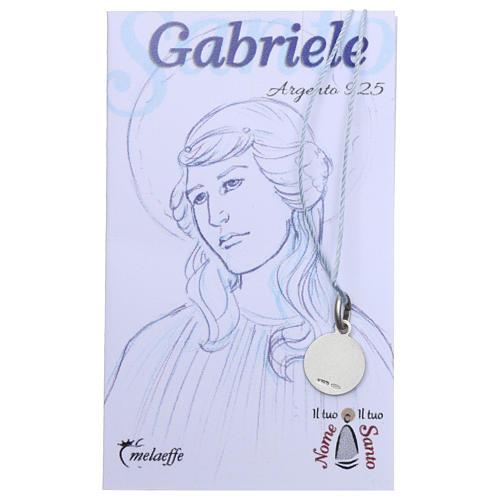 Medaglia San Gabriele Arcangelo Argento 925 rodiata 10 mm 2
