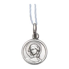 Medalha São Gabriel Arcanjo Prata 925 acabado Ródio 10 mm