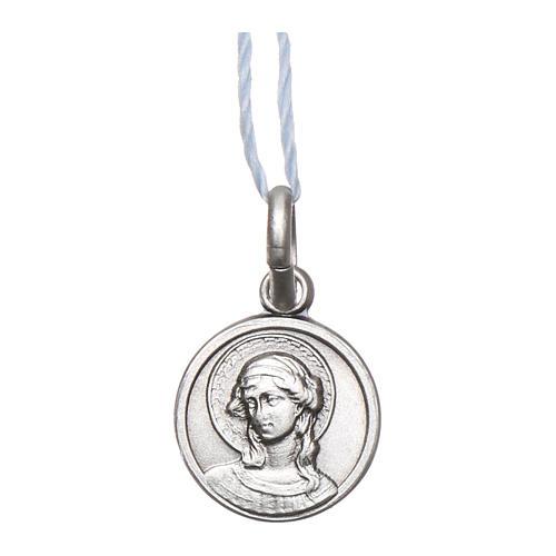 Medalha São Gabriel Arcanjo Prata 925 acabado Ródio 10 mm 1