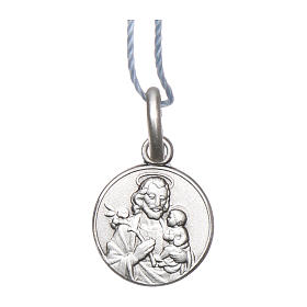 Medalik Święty Józef srebro 925 rodowane 10 mm s1