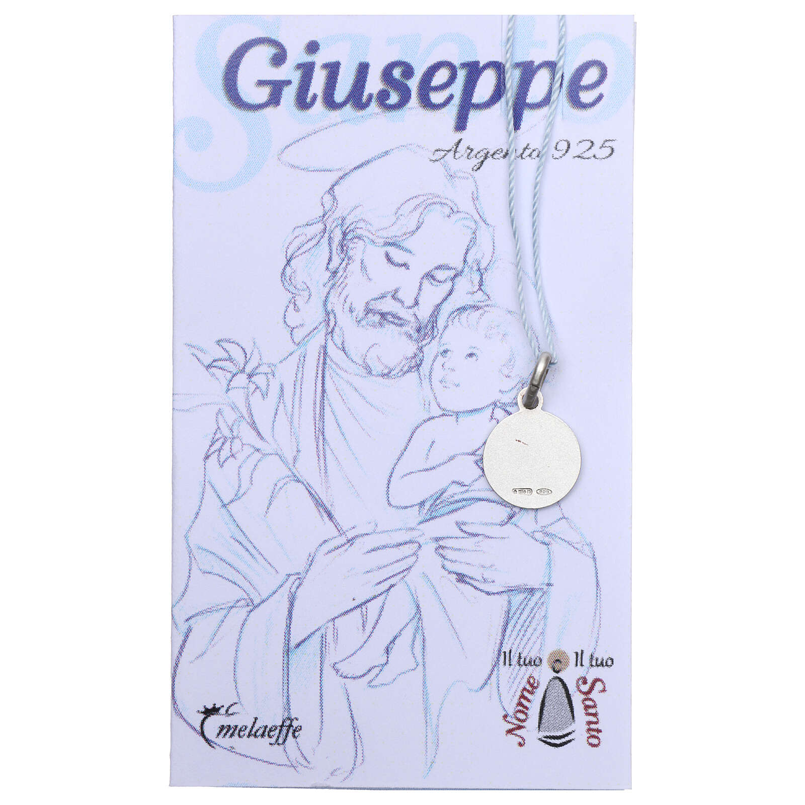Saint Joseph medal 925 sterling silver 0.39 in 4