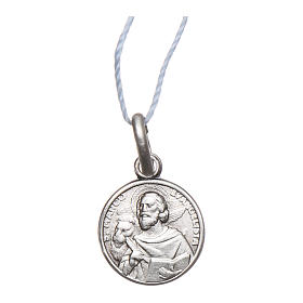 Rhodium plated medal with St. Mark the Evangelist 10 mm s1