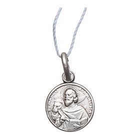 Medaglia San Marco Evangelista Argento 925 rodiata 10 mm s1