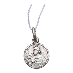Saint Mark the Evangelist medal 925 sterling silver 0.39 in s1