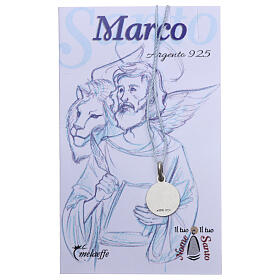 Saint Mark the Evangelist medal 925 sterling silver 0.39 in s2