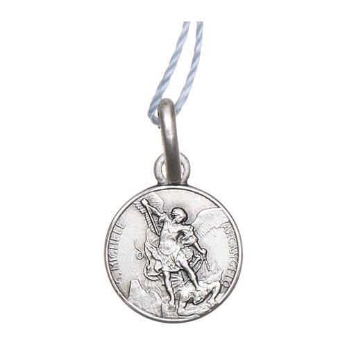 Medaglia San Michele Arcangelo Argento 925 rodiata 10 mm 1