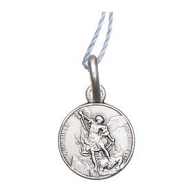 Pingentes, Cruzes, Broches, Correntes: Medalha São Miguel Arcanjo prata 925 radiada 10 mm