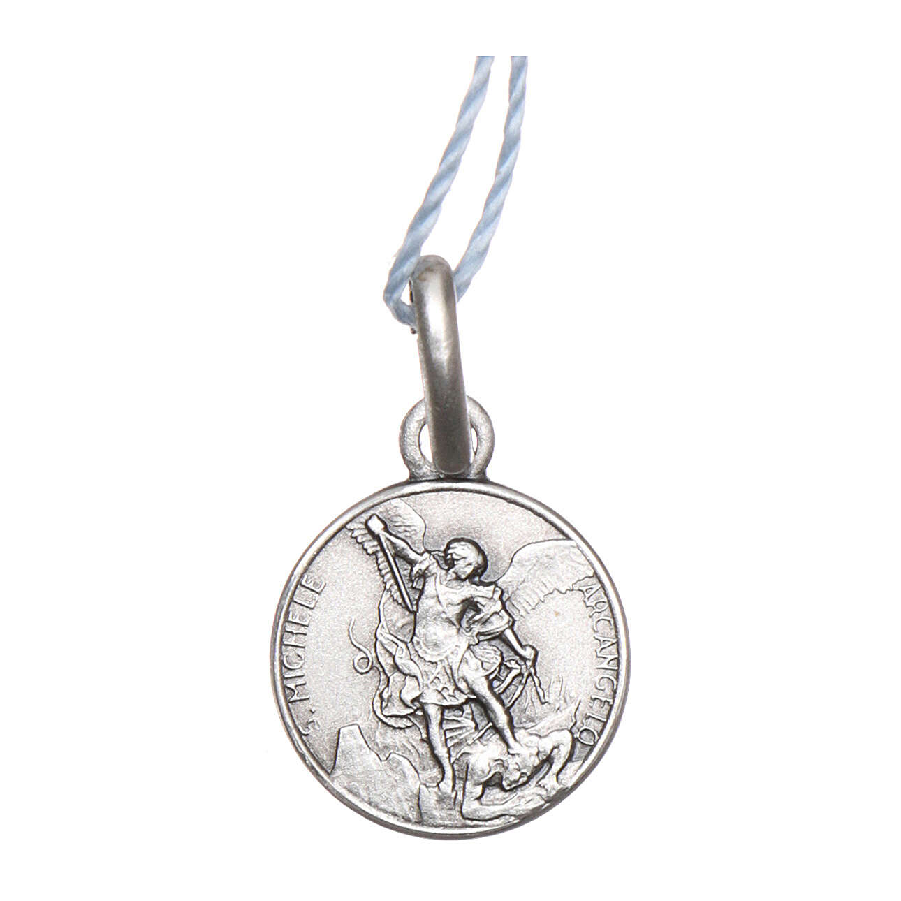 Saint Michael the Archangel medal 925 silver finished in rhodium 0.39 in 4