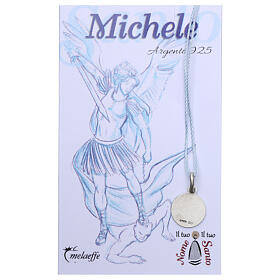 Saint Michael the Archangel medal 925 silver finished in rhodium 0.39 in s2