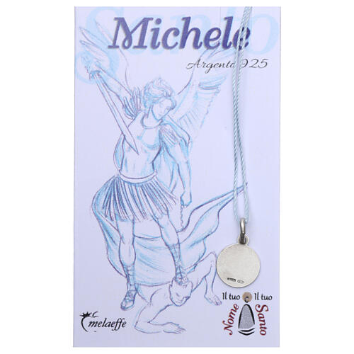 Saint Michael the Archangel medal 925 silver finished in rhodium 0.39 in 2