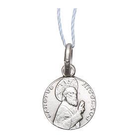 Medaglia San Nicola di Bari Argento 925 rodiata 10 mm s1
