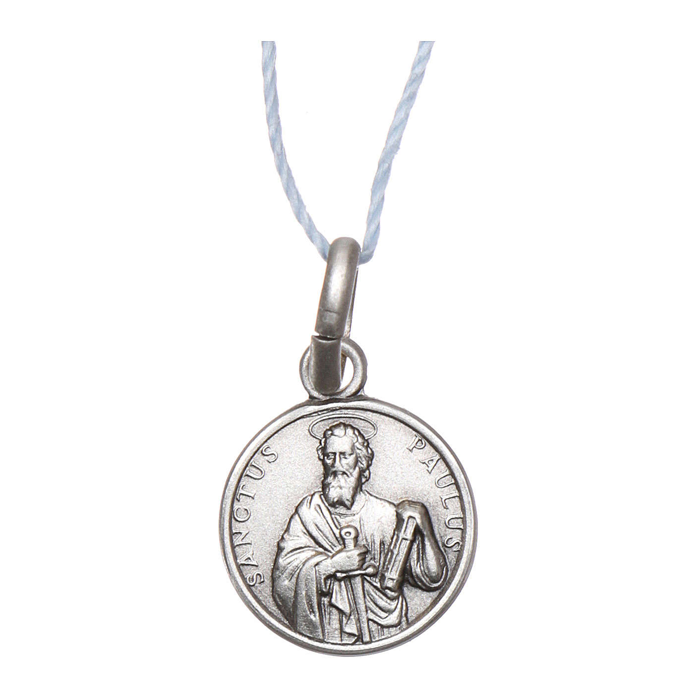 Rhodium plated medal with St. Paul 10 mm 4