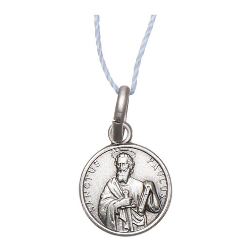 Rhodium plated medal with St. Paul 10 mm 1