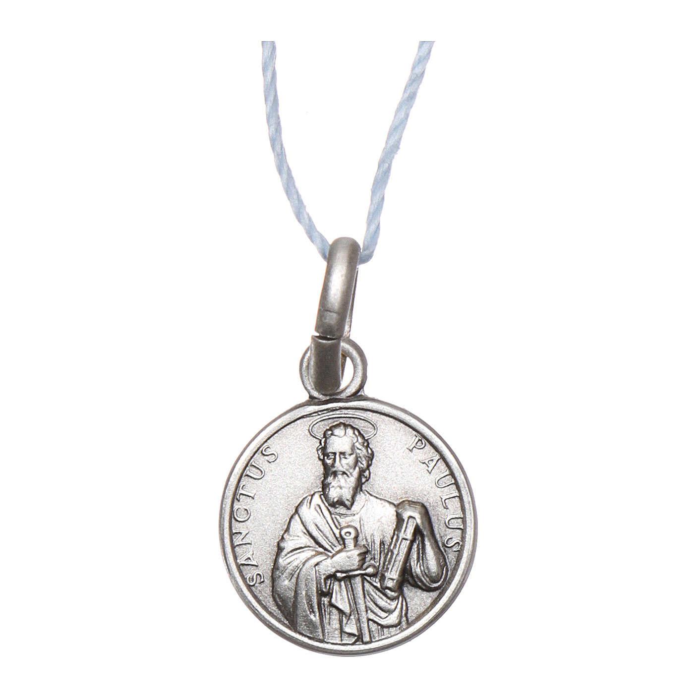 Medalla San Pablo Plata 925 rodiada 10 mm 4