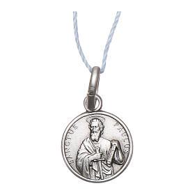 Medaglia San Paolo Argento 925 rodiata 10 mm s1