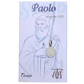 Medaglia San Paolo Argento 925 rodiata 10 mm s2