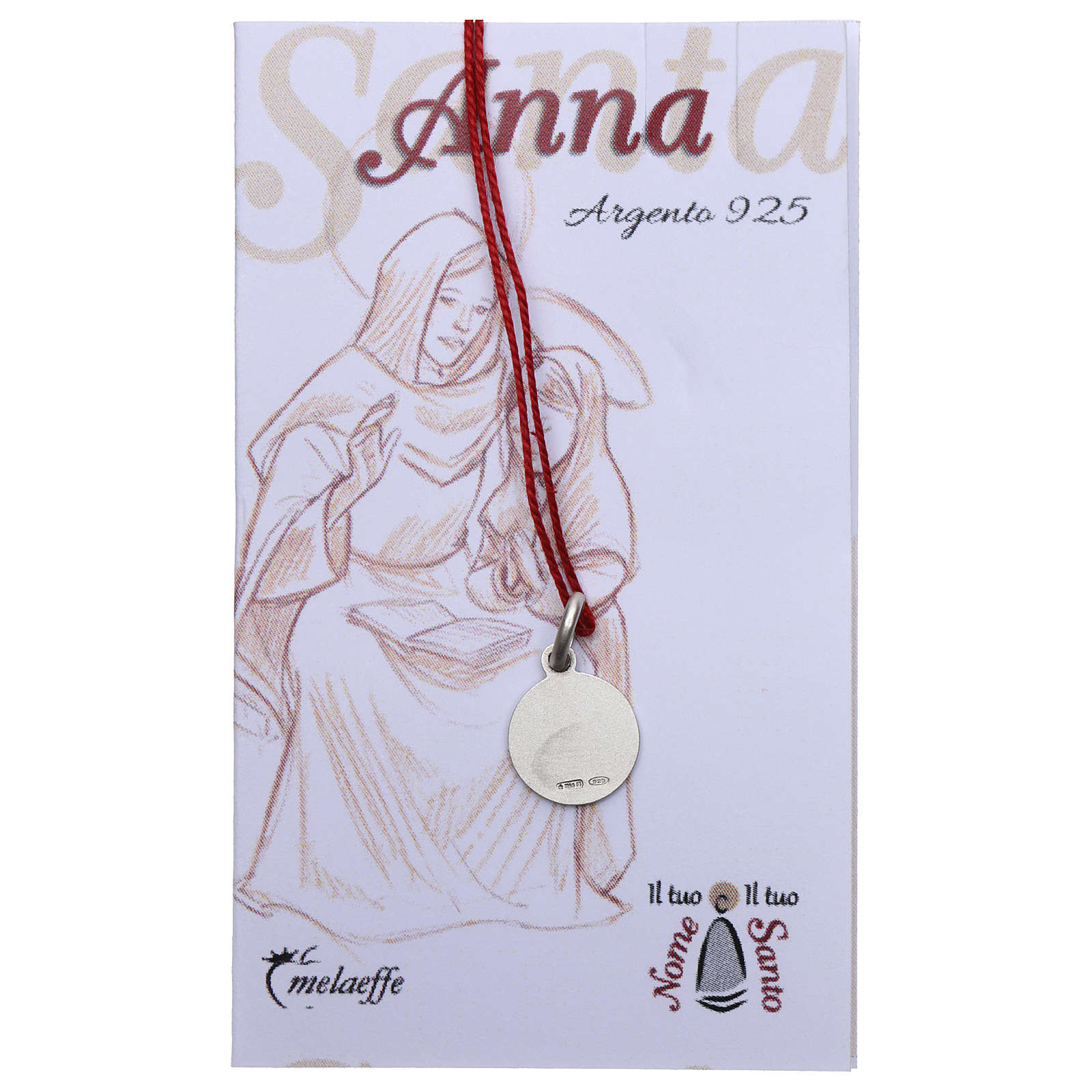 Medalla Santa Ana Plata 925 rodiada 10 mm 4