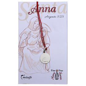 Saint Anne medal 925 silver finished in rhodium 0.39 in s2
