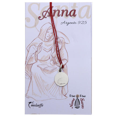 Saint Anne medal 925 silver finished in rhodium 0.39 in 2