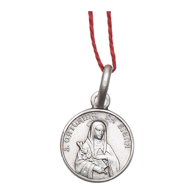 Médaille Ste Catherine de Sienne argent 925 rhodié 10 mm 4