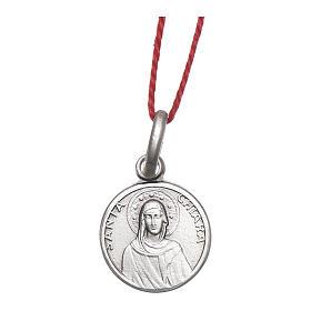 Médaille Ste Claire argent 925 rhodié 10 mm s1