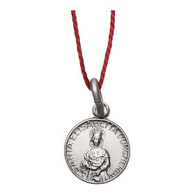 Medaglia Sant'Elisabetta Argento 925 rodiata 10 mm s1