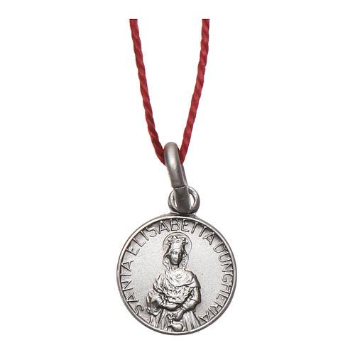 Medaglia Sant'Elisabetta Argento 925 rodiata 10 mm 1